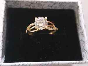 Gold and diamond 100%Real  ring Turkish ring Roxburgh Park Hume Area Preview