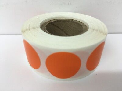 500 Labels Round 2 Inch Orange Color Coding Coded Inventory Sticker Dot