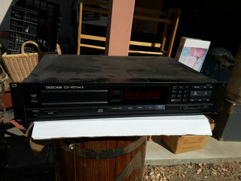 Tascam CD-401 MK II CD Player With Rack Ears Professional Audio Equipment