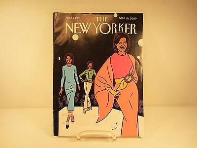 The New Yorker Magazine March16  2009 Michelle Obama   Free Shipping