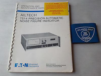 Eaton Ailtech 7514 Precision Automatic Noise Figure Indicator Manual