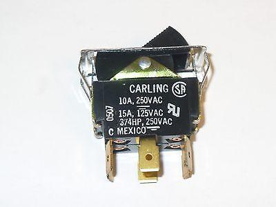 1 Pc. Carling Tigl51-1c-bl-fn Dpdt Rocker Switch 250 Vac 34hp10a New