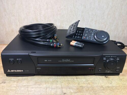 Mitsubishi HS-U580 HiFi VCR VHS Bundle Remote Manual SERVICED VIDEO BELOW  - $94.99