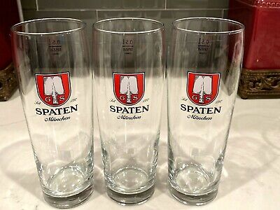 Leit 1397 Spaten Munchen Beer Glass set of 3