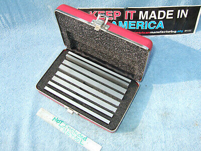 Starrett 384 Parallel Set Wcase Vintage Machinist Jig Bore Mill Grind Inspect