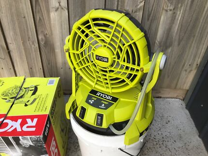 Ryobi 18v one+ portable misting fan