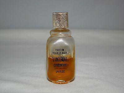 - Vintage L'INTERDIT by GIVENCHY PARFUM POUR LE BAIN Bottle 1/4 fl.oz. 50% Full
