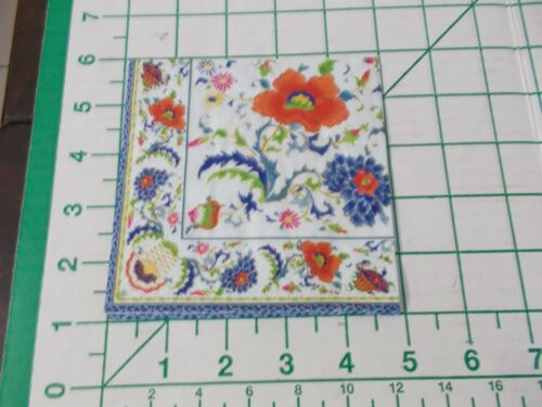 """Two Decorative Cocktail Napkins for Decoupage """"Chinese Ceramic White"""""""