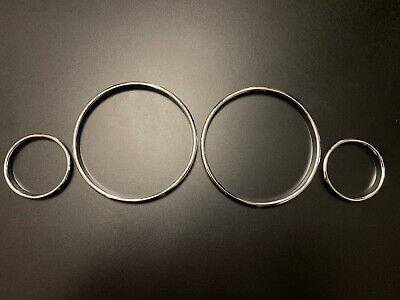SPEEDOMETER DIAL GAUGE RINGS BEZEL CHROME FOR BMW E39 M5 E38 E53 X5 TRIM