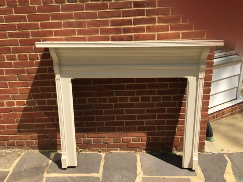 Antique Fireplace Mantle Surround. Clean Lines. Beautiful. Solid wood.
