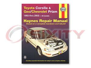 Toyota Corolla Haynes Repair Manual S VE DX CE Base LE Shop Service Garage jh
