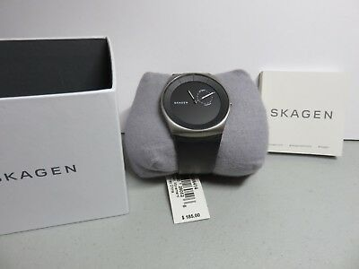 Skagen Havene Men's Titanium Watch with Leather Band SKW6414. New. See Photos!