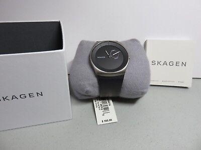 Skagen Havene Men's Titanium Watch with Leather Band SKW6414. New. See Photos!