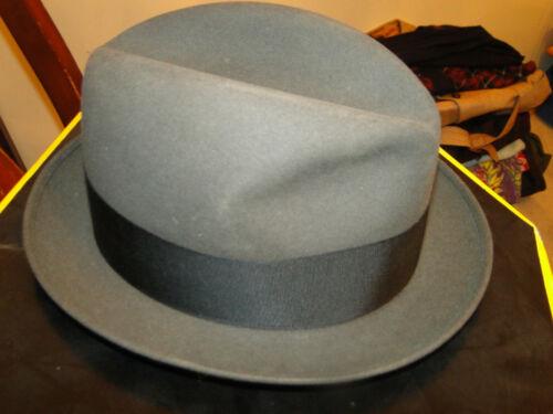 Vintage  dobbs   Fedora Hat  Hats Gray Size 7.1/2