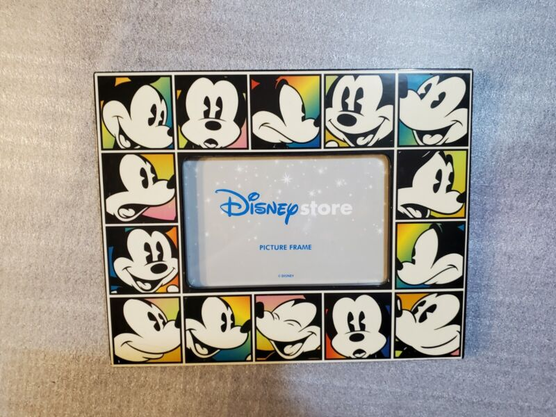 Disney Store Mickey Mouse Faces of Mickey Colorful Photo Picture Frame NIOP- 4x6