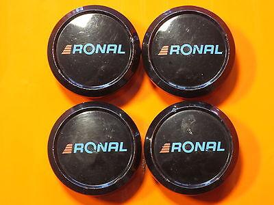 4 Nabendeckel/Radkappen für Alufelgen von Ronal in schwarz gebraucht kaufen  Oelsnitz