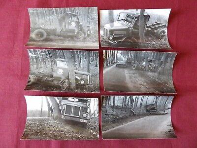Alte s/w Unfallfotos DDR LKW H3A Lastwagen
