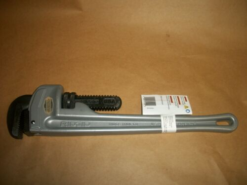 "RIDGID ALUMINUM PIPE WRENCH 18"" 31100 Model 818 Aluminum Straight Pipe Wrench"