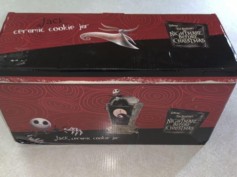 Disney Tim Burton's The Nightmare Before Christmas Jack Ceramic Cookie Jar New