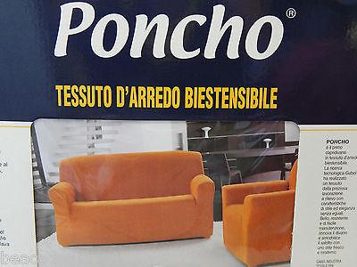 COPRIDIVANO SALOTTO poncho GABEL 2 posti giallo oro ELASTICIZZATO made in italy