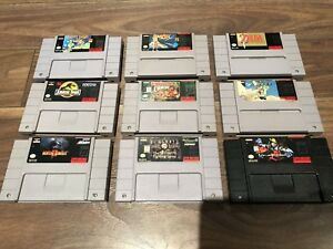 Super Nintendo SNES Games for Sale - Zelda, Donkey Kong, Mario