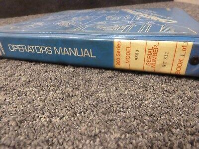 American Model 9280 Tower Crawler Crane Owner Operator Maintenance Manual