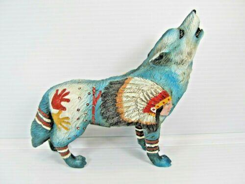 Chief Wolf Spirit Wolf Symbol Resin Figurine
