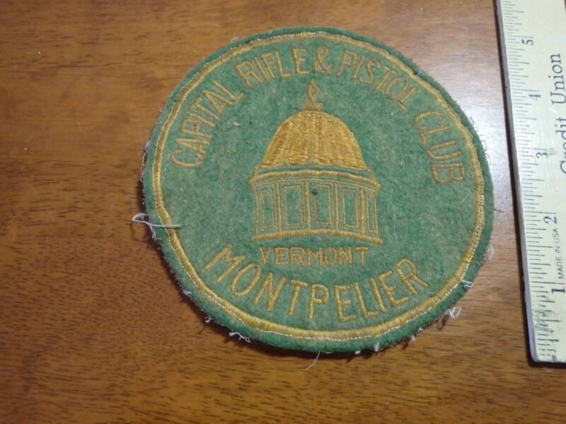 RARE MONTPELIER VERMONT CAPITAL  RIFLE AND PISTOL  CLUB 1920