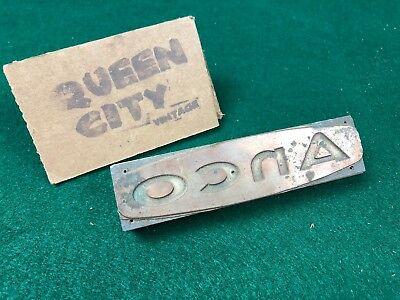 Vintage Woodmetal Letterpress Printers Block Anco Wipers