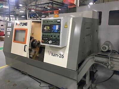 Fortune Vturn 26 Cnc Lathe Turning Live Tools C Axis Excellent Haas Mori