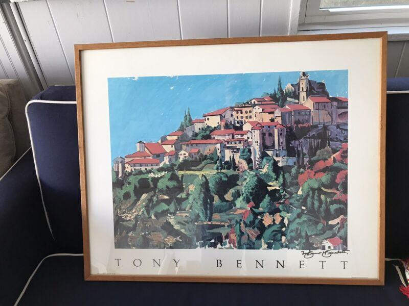 Tony Bennett print Painting original autograph