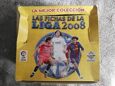 caja de 50 sobres de cromos sin abrir fichas liga mundicromo 2008