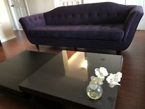 Deep Purple velvet couch perfect condition