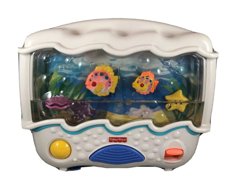 Fisher Price Ocean Wonders Aquarium Infant Baby Nursery Crib Soother