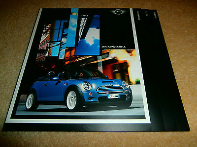 BMW Mini Convertible 2004 UK Market Sales Brochure One Cooper S.  Mint condition