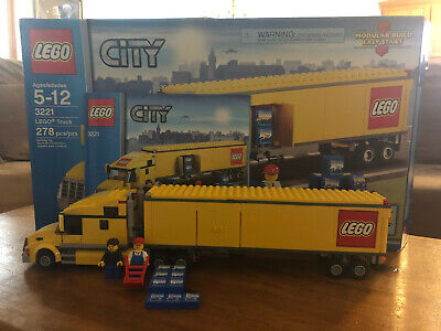 Lego 3221 City Semi Truck Tractor Trailer with Box and Manual 100% Complete Used