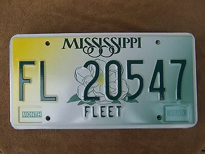 FL 20547 = NOS 1998 Base Mississippi Fleet License Plate      $4.00 US Shipping