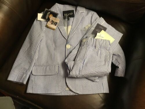 New Eland 3t blue/white seersucker suit ,new price 94 and 44, save a lot! So cut
