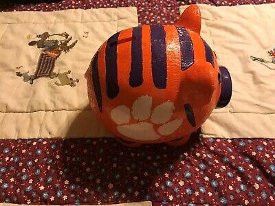 Ceramic Collegiate Piggy Bank Clemson Tigers Start Saving for The next Tiger