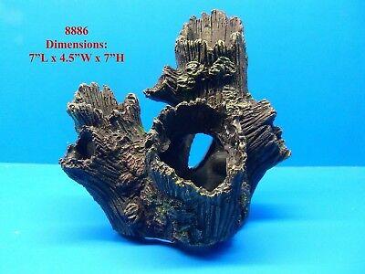 8886 AQUARIUM DECOR RESIN TREE TRUNK DETAILED FISH TANK REPLICA LOG ORNAMENT