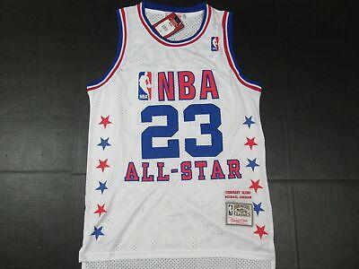 New Michael Jordan #23 Chicago Bulls 1985 NBA ALL-STAR GAME M&N Jersey White