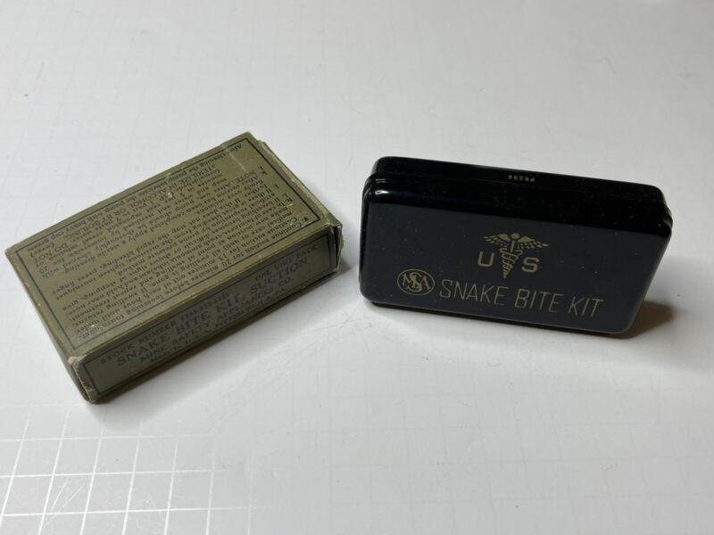Vintage MSA US Army WWII Snake Bite Kit Original Box Mine Safety Appliances Co