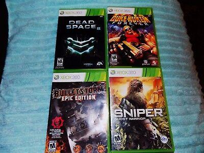 4X LOT Dead Space 2,SNIPER GHOST WARRIOR,DUKE NUKEM,BULLETSTORM EPIC Xbox 360 segunda mano  Embacar hacia Mexico