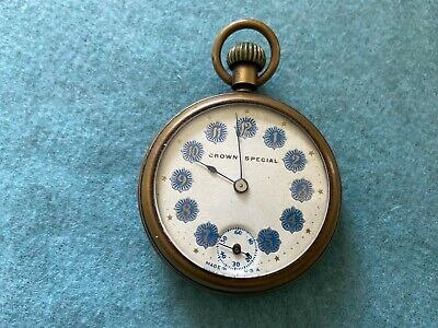 Crown Special Mechanical Wind Up Vintage Pocket Watch