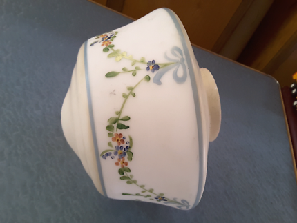 VINTAGE / ANTIQUE CEILING LIGHT SHADE PRETTY HAND PAINTED