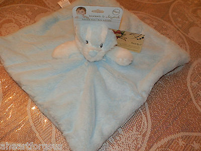 BLANKET BEYOND SECURITY DOG PUP BLUE FUR  WHITE HEAD ARMS SOFT PLUSH FLEECE NEW