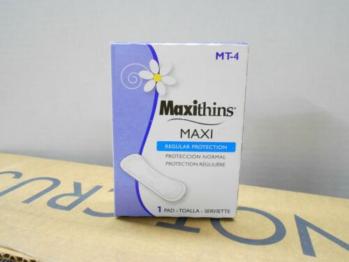 13X Vending Machine Size MT-4 Maxithins Maxi Pads 1 Pad In Each Box =13 Boxes