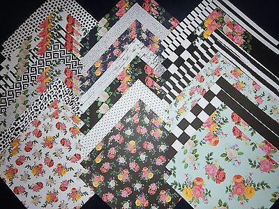 12x12 Scrapbook Paper Studio Cardstock Petals Blooms Florals Garden Wedding 40  - Wedding Scrapbook Paper