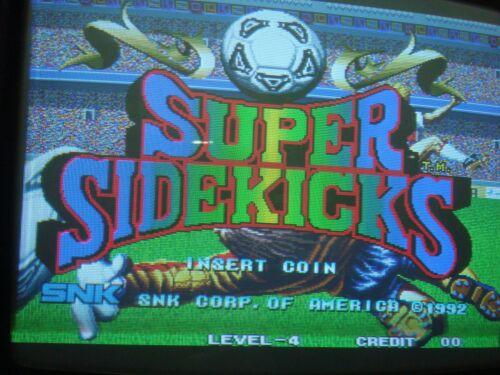 "Super Sidekicks  SNK Cartridge Runs on the ""Neo Geo MVS System""Jamma Hardware"