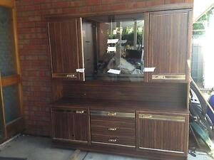 2 piece glass doors display cabinet Croydon Park Port Adelaide Area Preview